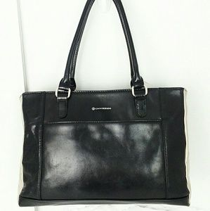 GIANI BERNINI LEATHER SATCHEL TOTE EUC!